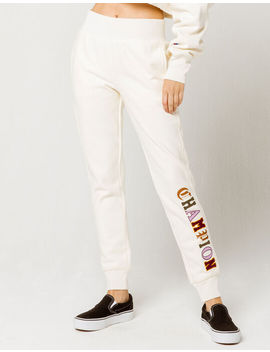 Champion Reverse Weave Off White Womens Jogger Pants by Champion
