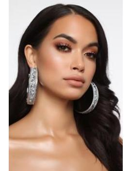 Amused By You Hoop Earrings   S Ilver by Fashion Nova