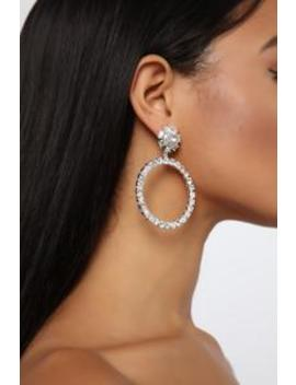 Never Gets Old Earrings   Silver by Fashion Nova