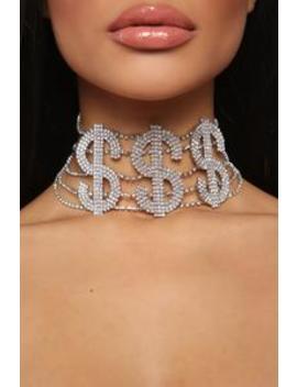 Make That Money Choker   Silver by Fashion Nova
