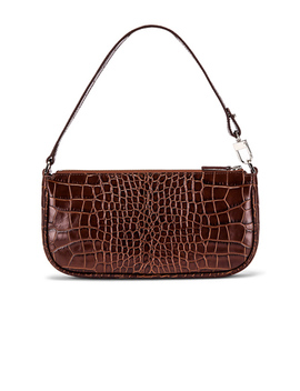 Rachel Croco Embossed Leather Bag by By Far