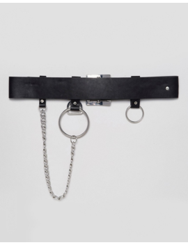 Asos Design Chain &Amp; Ring Detail Waist &Amp; Hip Belt by Asos Design