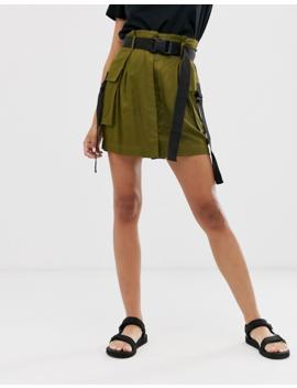 Asos Design Mini Utility Skirt With Buckle Belt by Asos Design