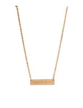 Fuck Off Pendant Necklace   Gold by Fashion Nova