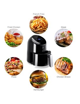 Best Choice Products 4.4qt 1400 W 120 V 8 In 1 Digital Compact Air Fryer Kitchen Appliance W/ 8 Presets, Digital Lcd Screen, Recipes, Fda Grade Steel   Black by Best Choice Products