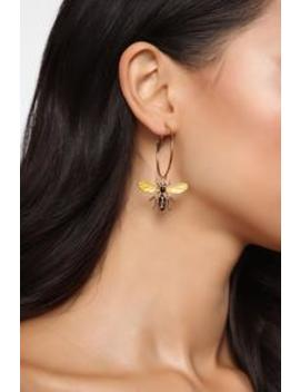 Such A Busy Bee Earrings   Gold by Fashion Nova