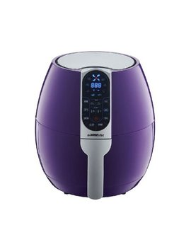 Go Wise Usa 3.7 Quart 8 In 1 Electric Programmable Air Fryer, Plum by Go Wise Usa