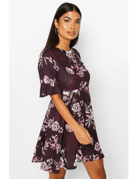 Petite Floral Smock Dress by Boohoo