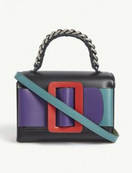 Fred Leather Colour Block Cross Body Bag by Boyy