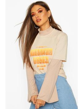 Highway Honey Slogan T Shirt by Boohoo