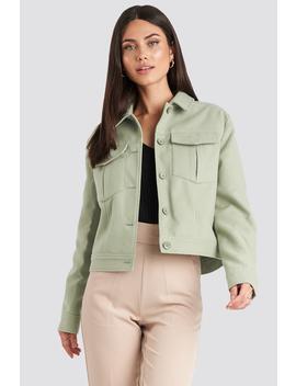 Big Pocket Short Jacket Green by Nakdclassic