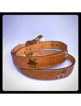 Silver Creek Western Leather Belt Desert Animals Preowned/Used by Silver Creek