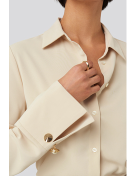 Gold Detail Blouse Beige by Nakdclassic