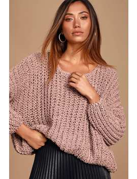 Kyleigh Lavender Loose Knit Sweater by Lulus