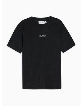 Black Oversized Los Angeles T Shirt by Topman