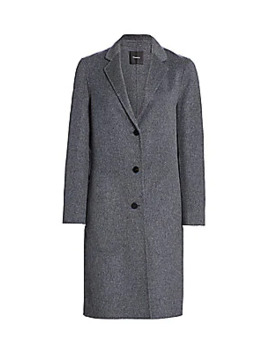 Classic Wool & Cashmere Coat by Theory