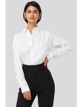 Gathered Shoulder Shirt White by Nakdclassic