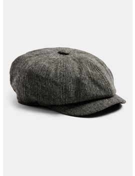 Salt And Pepper Baker Boy Cap by Topman