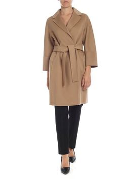 Arona Coat In Camel Color by S Max Mara