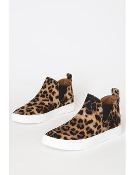 Report Axel Leopard Print Suede Slip On Sneakers by Report