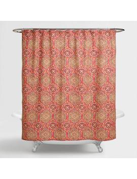 Coral Medallion Frieda Shower Curtain by World Market