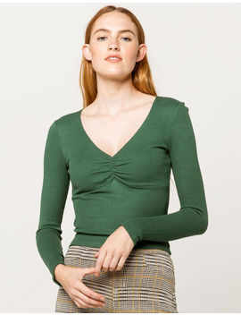 Ivy +  Main Solid Cinch Hunter Green Womens Thermal by Tilly's