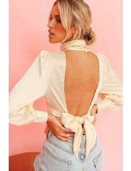 Runway Pieces Tie Back Top // Cream by Vergegirl