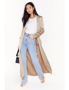 Satin Duster Coat by Nasty Gal