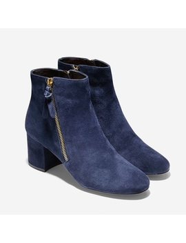 Cole Haan Sailor Grand Booties Blue Suede Size 8 by Cole Haan