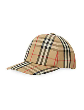 Logo Detail Vintage Check Baseball Cap by Burberry