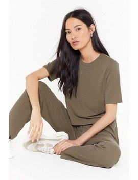 Ms Ribbed Crop Top And Jogger Co Ord Set by Nasty Gal
