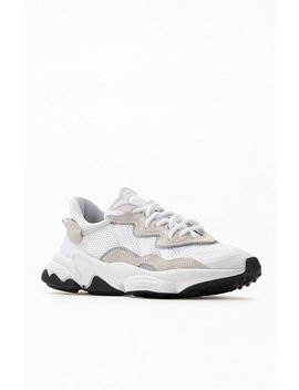 Adidas White & Black Ozweego Shoes by Pacsun