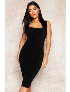 Double Layer Slinky Bodycon Midi Dress by Boohoo
