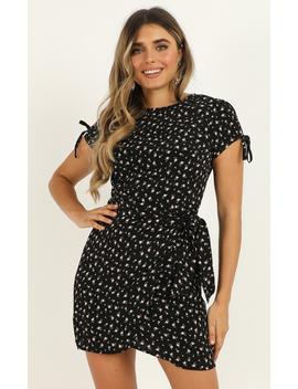 Falling For It Dress In Black Floral by Showpo Fashion