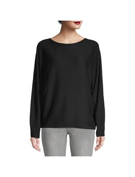 Women's Boat Neck Dolman Sleeve Top by Time And Tru
