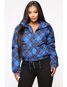 Take On The Cold Puffer Jacket   Blue by Fashion Nova