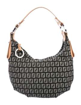 Leather Trimmed Zucchino Hobo by Fendi
