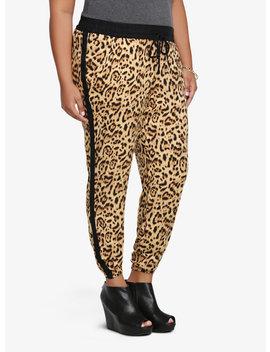 Leopard Side Stripe Soft Pant by Torrid