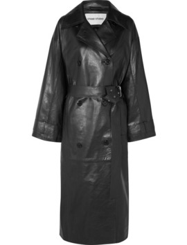 Eliora Leather Trench Coat by Stand Studios
