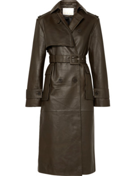 Pirello Belted Leather Trench Coat by Remain Birger Christensen