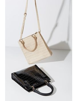 Bailey Croc Effect Tote Bag by Anthropologie