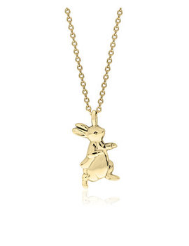 Beatrix Potter Gold Plated Sterling Silver Peter Rabbit Pendant Necklace by General