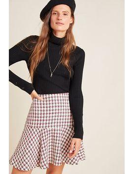Bobbie Plaid Flounced Mini Skirt by Maeve