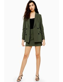 Khaki Mini Skirt by Topshop