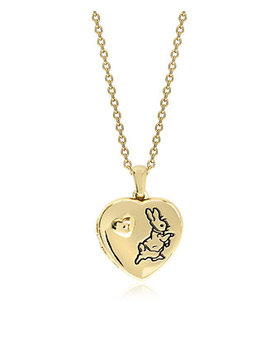Beatrix Potter Gold Plated Sterling Silver Peter Rabbit Heart Locket Necklace by General