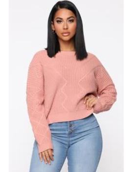 On A Break Sweater   Mauve by Fashion Nova