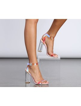 Haute Holographic Lucite Heels by Windsor