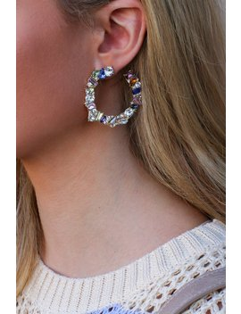 Bling On Rhinestone Earrings by Madison + Mallory