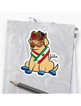 Frida Flowers Flag Sticker by Tand Jart