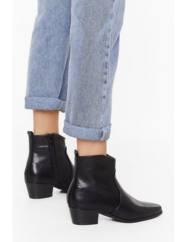 Walk This Way Faux Leather Boots by Nasty Gal